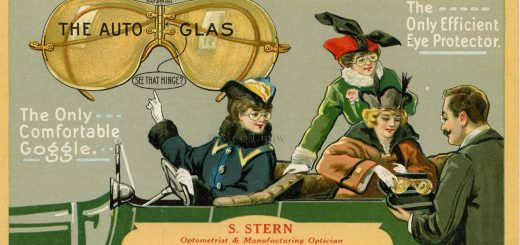 AutoGlas 1911 promotional postcard Motoring Glasses, Motoring Sunglasses, Aviator Sunglasses