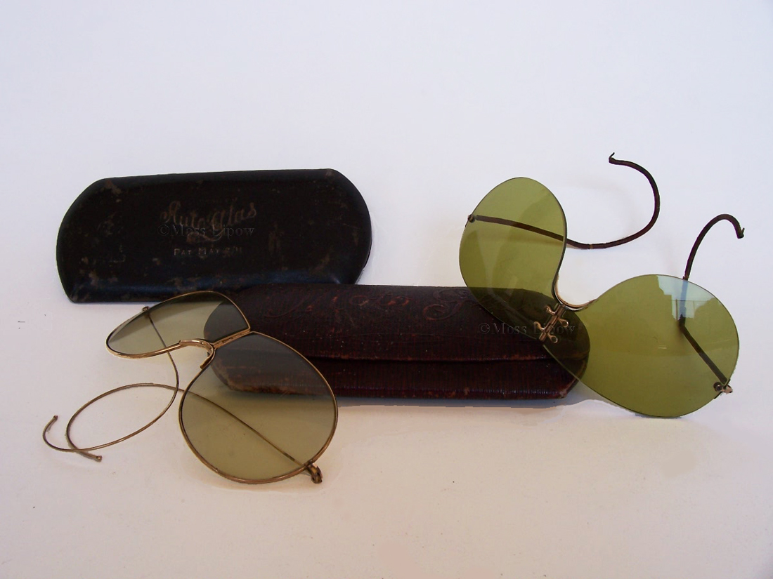 Two pair of AutoGlas motoring sunglasses, circa 1911. Photo by Moss Lipow