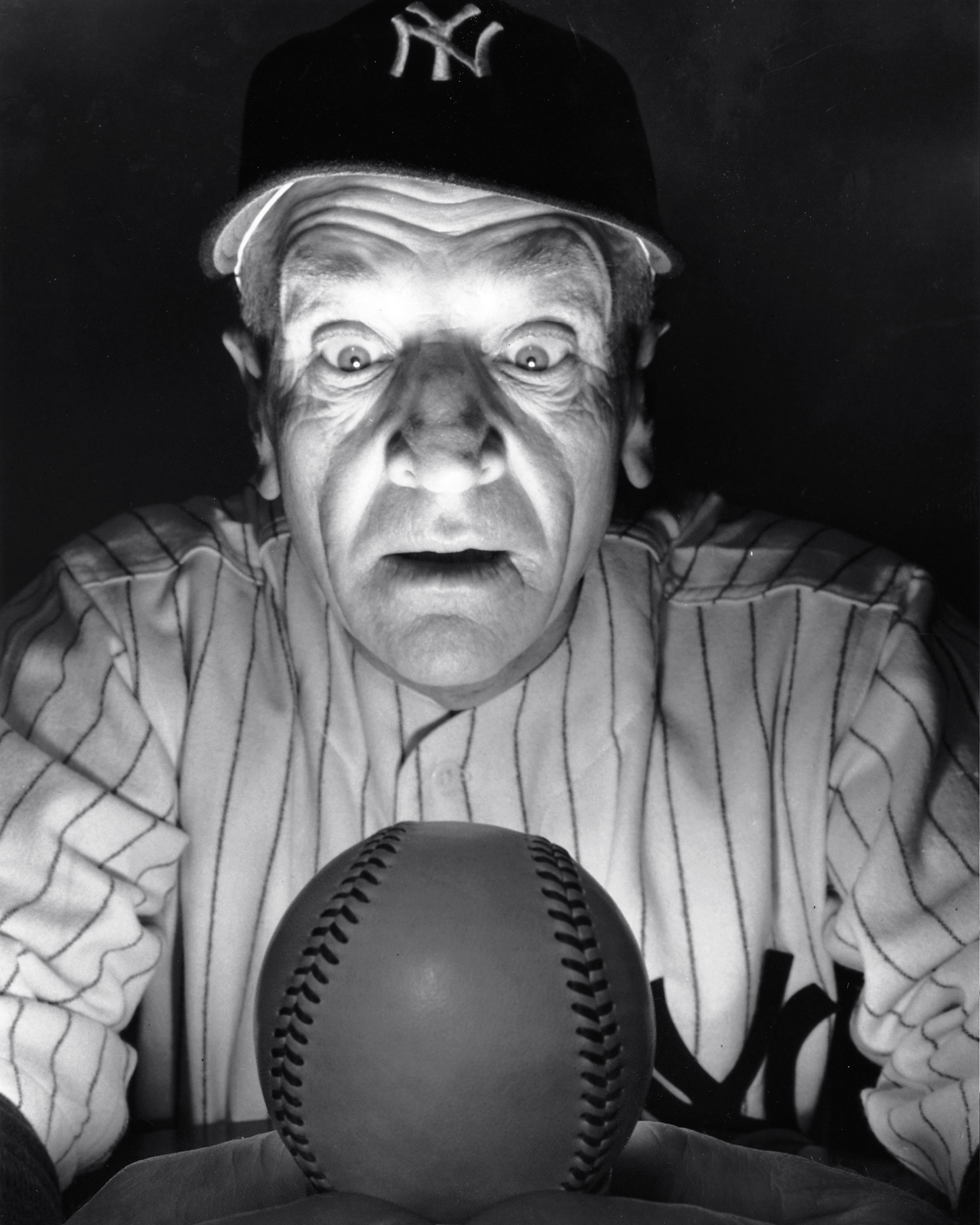 Casey Stengel looking at a future so bright he requires sunglasses.
