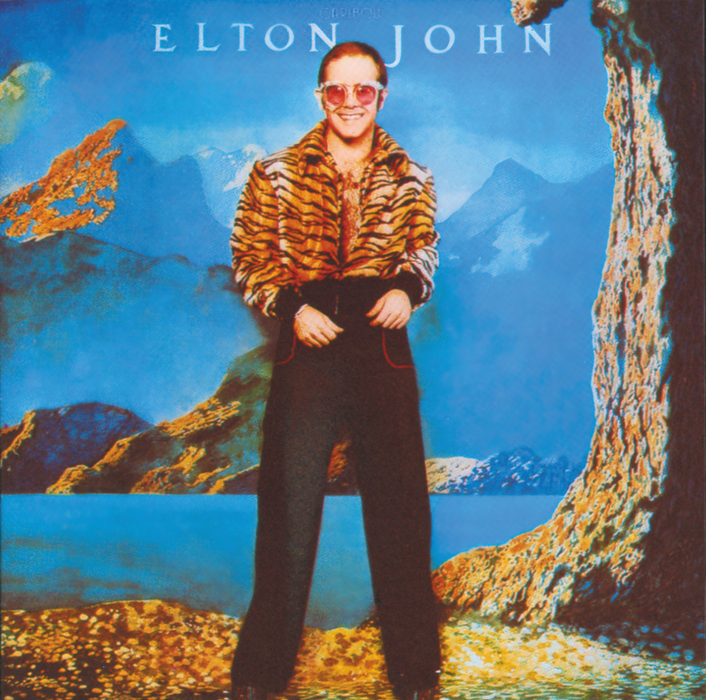 Elton John sunglasses and outfit from album Caribou were acquired at Granny Takes A Trip