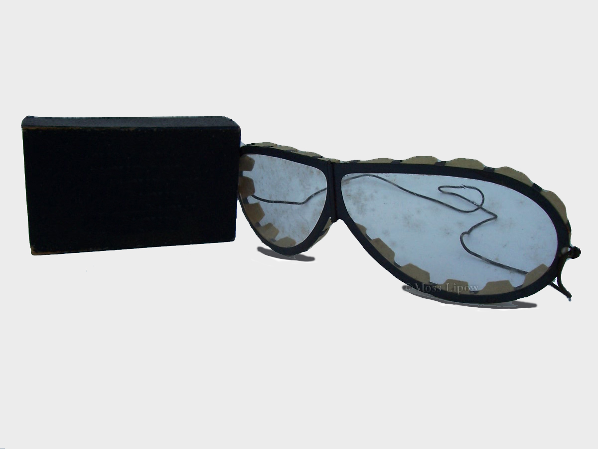 Pre-Aviator Sunglasses with Original Case - circa 1895