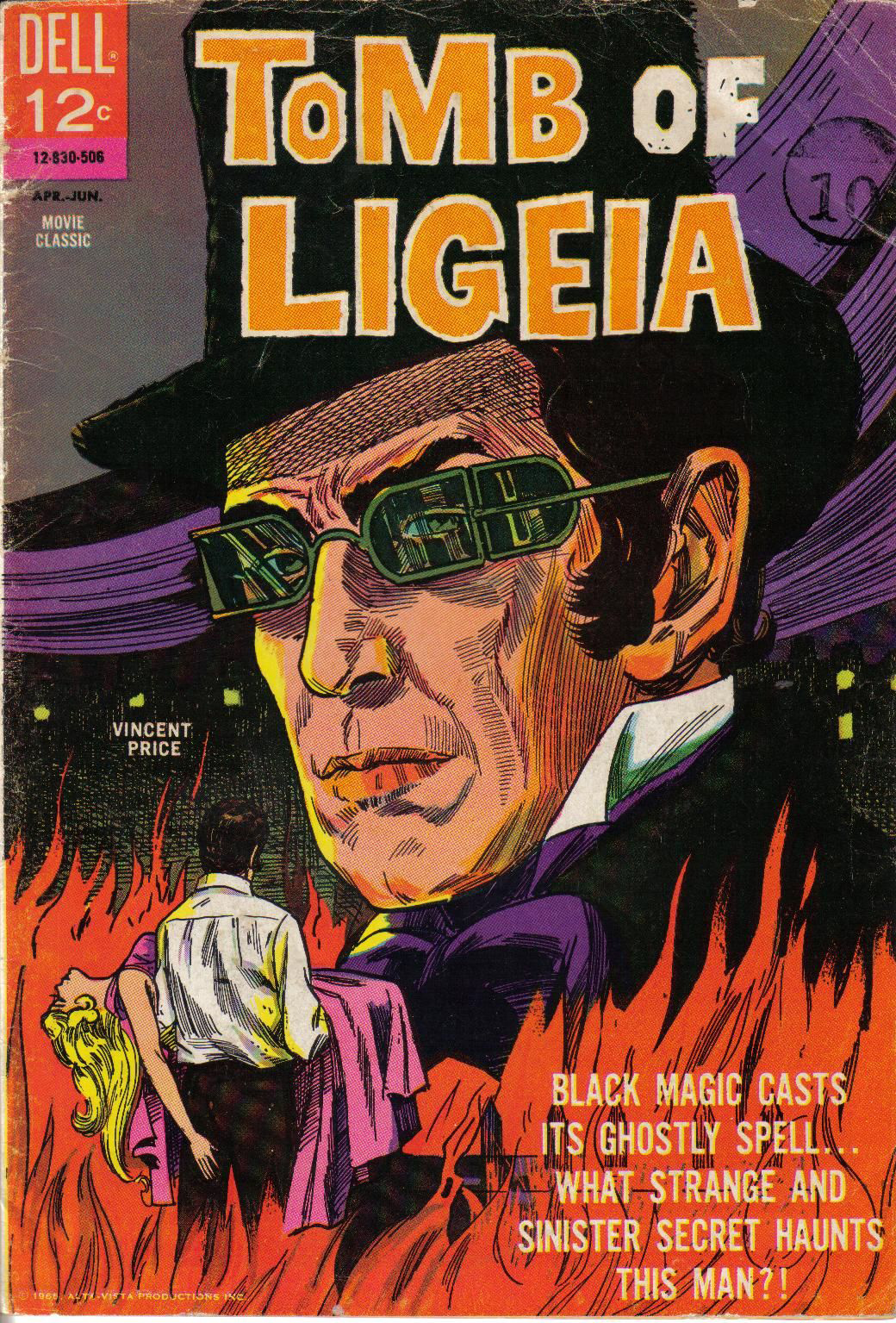 Vincent Price as a comic book character sporting Richardson style sunglasses