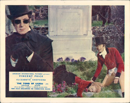 Lobby card for Roger Corman's Tomb of Ligeia