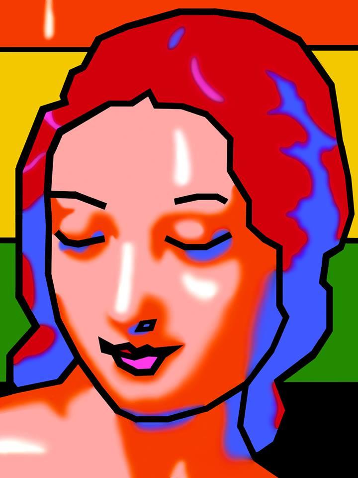 "INNERSIGHT acrylic on canvas, 60""x80"" 1999"