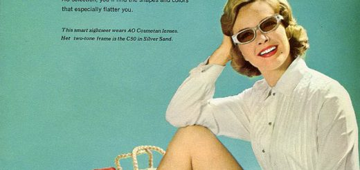 American Optical Sunglasses 1960 promotional literature