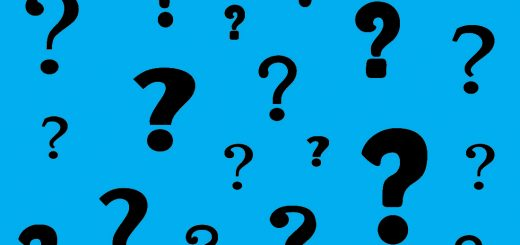 Bright Blue Question Marks