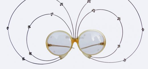 Elton John Sunglasses made by May Optical Co., circa 1975, from the Moss Lipow Collection