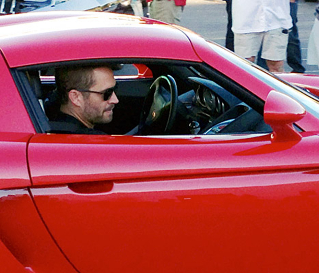 Paul Walker in the death car moments before the crash.