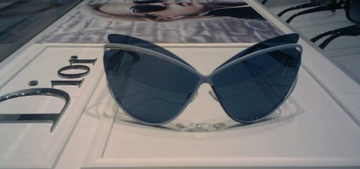 This season's new Christian Dior sunglasses on display at a Solstice Store.