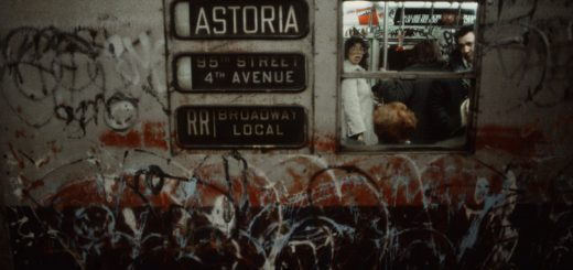Photo of NYC subway car circa 1981 by Christopher Morris.