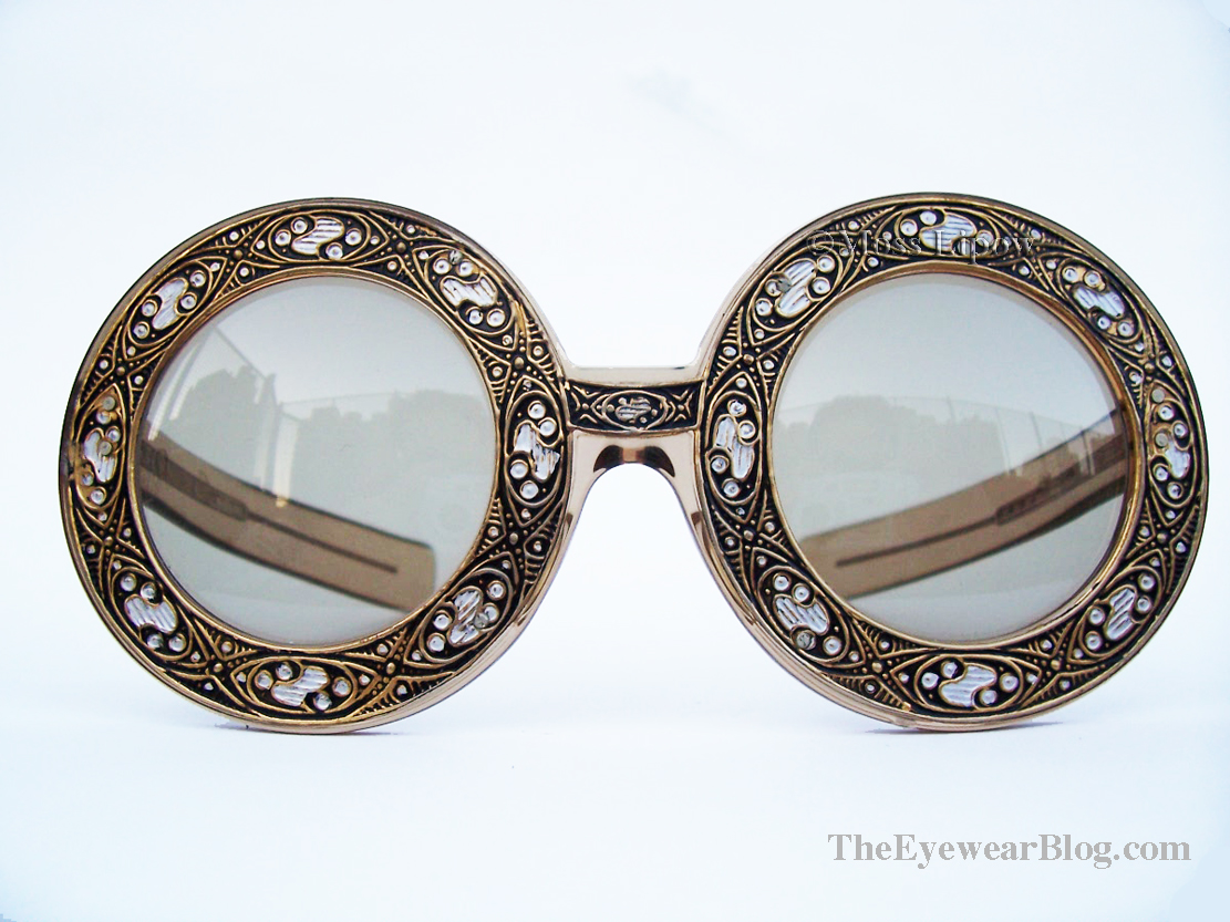 The first Christian Dior sunglasses made of optyl, circa 1969.