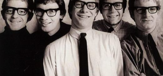 Manfred Mann all in glasses - even though only Manfred himself and Tom McGuinness actually wore glasses.