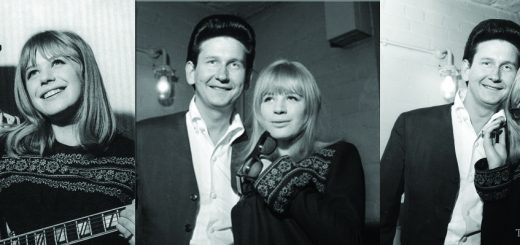 Marianne Faithfull stealing Roy Orbison's sunglasses. Note how Orbison becomes increasingly disheveled as the encounter proceeds.