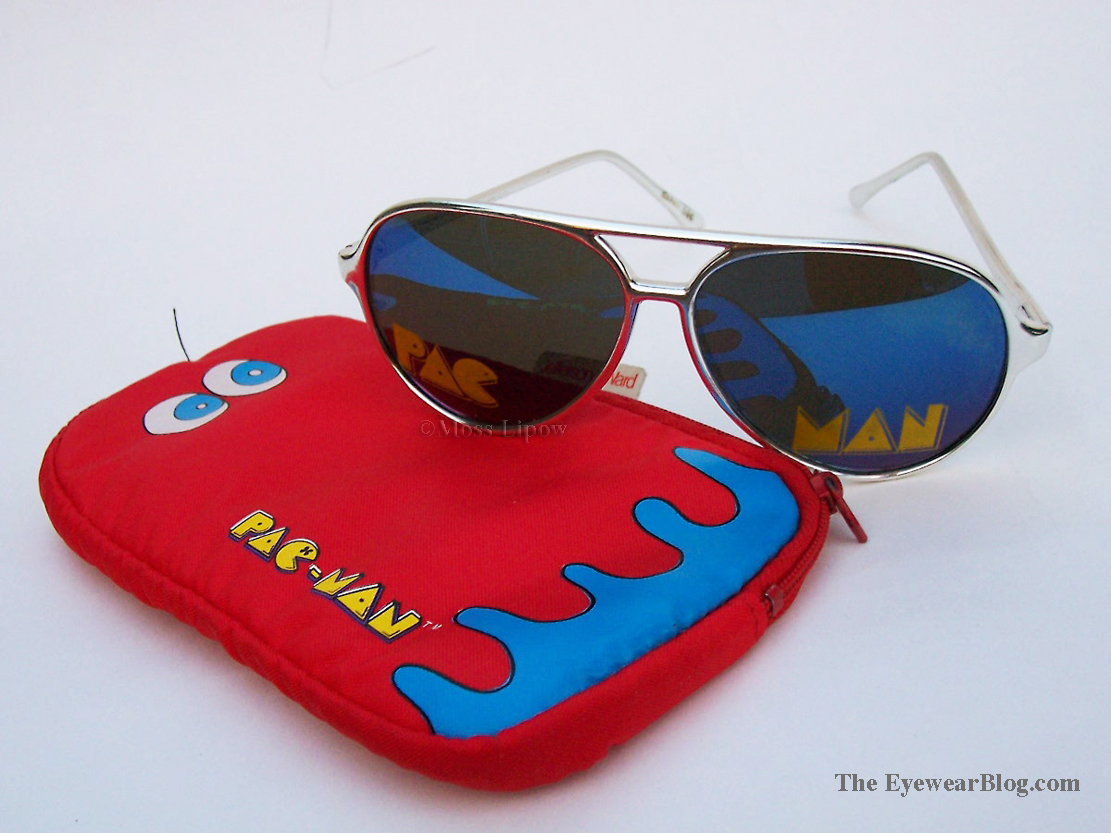Pac Man sunglasses and Pac Man case. 1980.