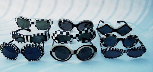 A group of 9 Op-Art sunglasses, circa 1966