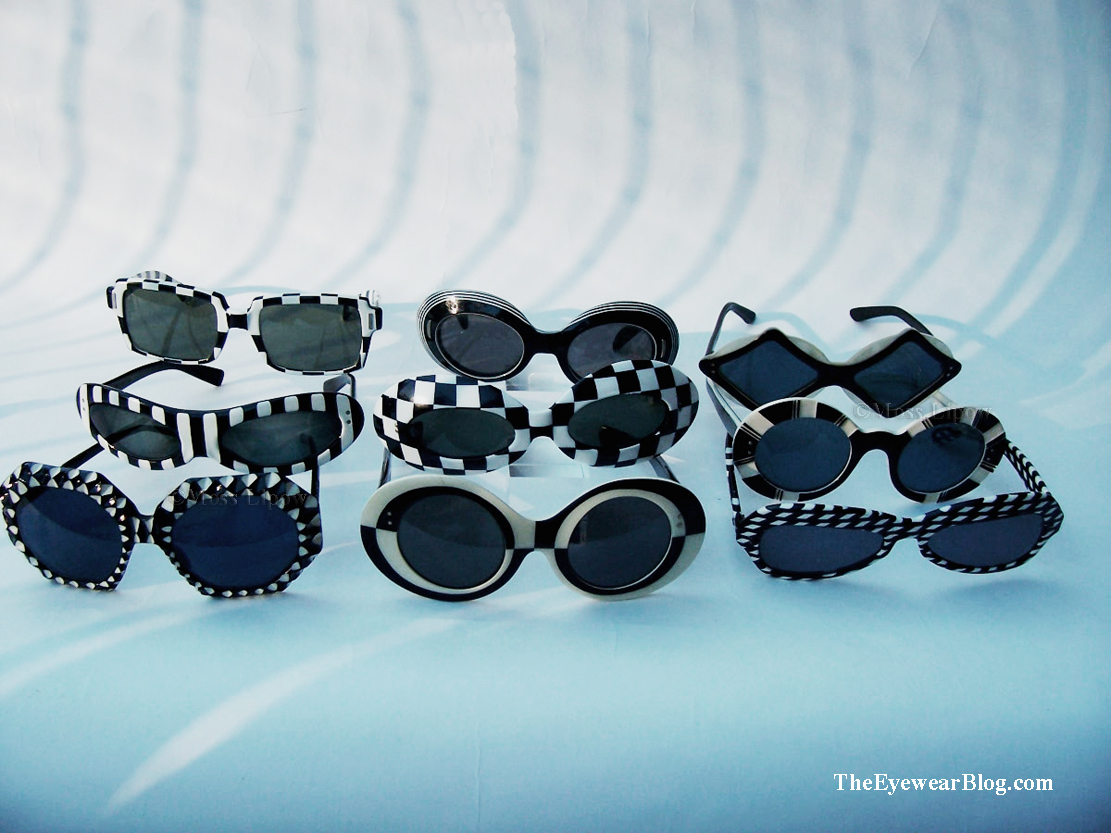 A group of 9 Op-Art sunglasses, circa 1966