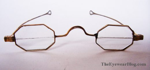 Solid Gold Reading Spectacles w Ben Franklin Type Bifocal Lenses circa 1850 2