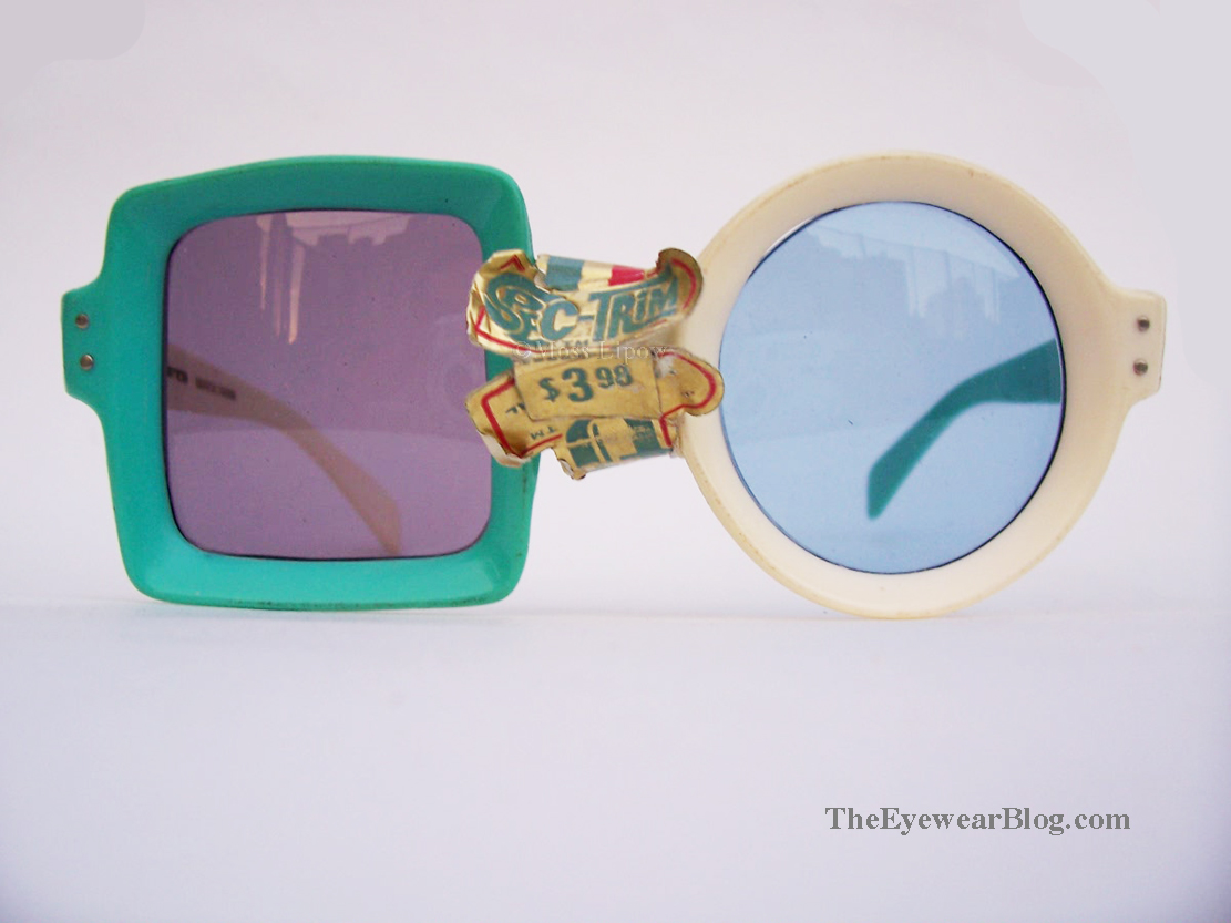 Vintage Square and Round Lens Sunglasses 1960s