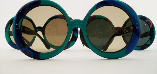 Vintage Pucci Sunglasses, in cool palette, France circa 1966.